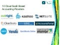 10 Cloud SaaS Based Accounting Providers