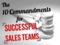 10 commandments for succesful sales teams
