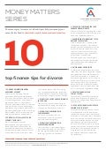 10 finance tips for Divorce