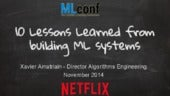 10 Lessons Learned from Building Machine Learning Systems