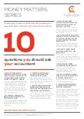 10 Questions you should ask your Accountant