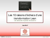 Le Lean Management : les 10 raisons...