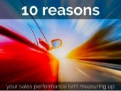10 Reasons Sales Performance Isn't Measuring Up