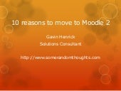 10 reasons to move to moodle2 from ...