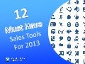 12 Must Have Sales Tools for 2013