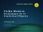 Fisika Modern (10) statistical physics