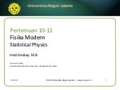 Fisika Modern 10 statistical physics