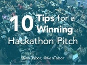 10 Tips for a Winning Hackathon Pitch