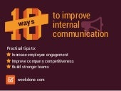 10 Ways to Improve Internal Communication