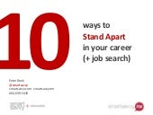 10 ways to stand apart