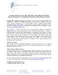 News Release - Filing of Technical Report for Eldor Rare Earth Project