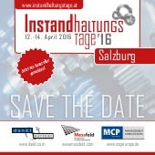 SAVE THE DATE: INSTANDHALTUNGSTAGE 2015: 21. bis 23. April 2015 in Klagenfurt!