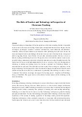 11.the role of teacher and technolo...