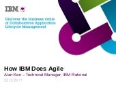 How Does IBM Do Agile