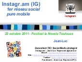 Instagram : presentation, tutoriel,...