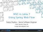 JahiaOne - MVC in Jahia 7 Using Spr...
