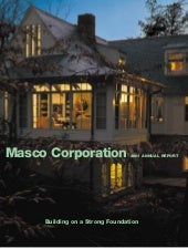 Masco Annual Report2001