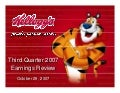 kellogg 	 Q3 2007 Earnings Release