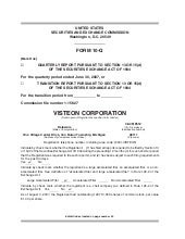 visteon 	2Q 2007 Form 10-Q