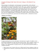 Companion Planting: Utilize Nature'...