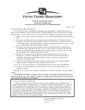 fifth third bancorp  54810ACL