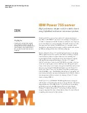 IBM Power 755 Server Data Sheet