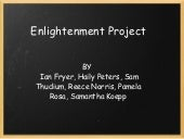 Group 4 Enlightenment Project P2