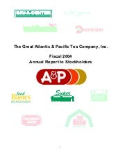 great atlantic & pacific tea  Annua...