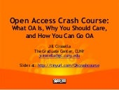 Open Access Publishing Crash Course