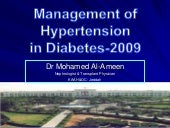 Management Of Hypertension in diabe...