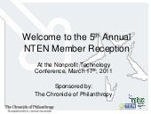 5th Annual NTEN Member Reception an...