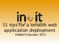 11 protips for smooth web application deployment