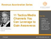 11 Tactics/Media Channels you can Leverage to Gain Awareness