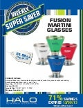 Fusion Martini Glasses 71% Off! #promodeal #actnow #martiniglass