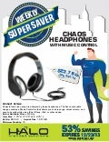 53% Off Chaos #Headphones with #Music Control #branded #techgifts
