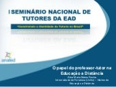 O Papel do Professor - Tutor na Edu...
