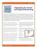 Organizing for Social and Digital Marketing