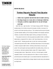 timken  2008Q1EarningsRelease