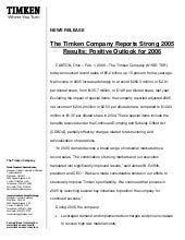 timken  Q405_Earnings