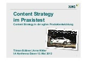 Content Strategy im Praxistest / CS...
