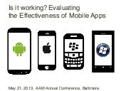 Is it working? Analysing the effectiveness of mobile in museums