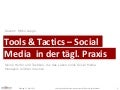 Tools & Tactics für Social Media Manager, Auflage 2