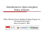 Introduction to Anti-corruption Pol...