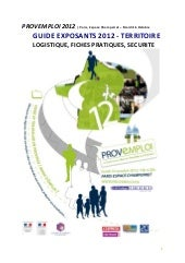 Guide Exposants PROVEMPLOI 2012
