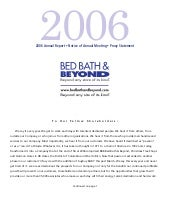 bed bath&beyond AnnualReport2006
