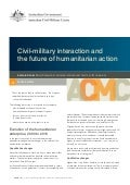 Working Paper 03/2012 Civil-military interaction and the future of humanitarian action