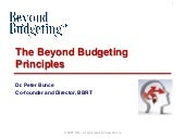 The Beyond Budgeting Principles