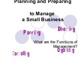 12.1 Functions of Management