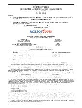 molson coors brewing   200710K