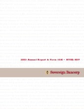 soverreigh bancorp 2003_annual_report